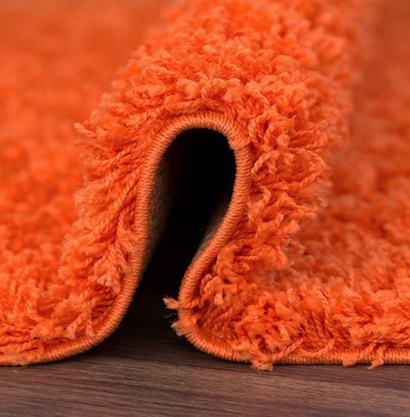 SHAGGY paklājs - 140 x 190 cm - oranžā krāsā