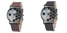 Rokas pulkstenis ar mākslīgās ādas siksniņu