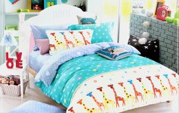 Luksusa klases gultas veļas komplekts no kokvilnas - 160 x 200cm AR PALAGU - M5