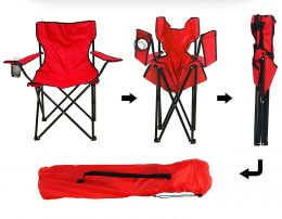 Saliekams makšķerēšanas krēsls ar atzveltni tūrismam, kempingam, piknikam u.c.