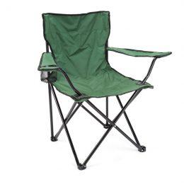 Saliekamais krēsls ar atzveltni makšķerēšanai, kempingam u.c.