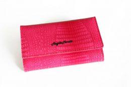 Sieviešu lakādas maks Angela Moretti rozā krāsā
