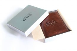 Vīriešu ādas naudas maks - WILD 3201 Coffe