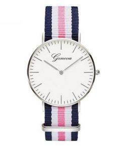 Klasisks rokas pulkstenis GENEVA ar neilona siksniņu
