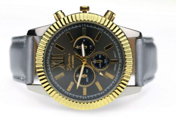 Rokas pulkstenis GENEVA ar mākslīgās ādas siksniņu