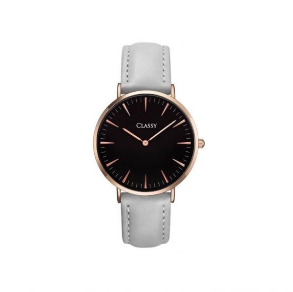 Klasisks rokas pulkstenis CLASSY ar mākslīgās ādas siksniņu