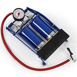 Kājas pumpis ar manometru - 2 cilindri