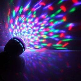 Daudzkrāsu rotējošā spuldze LED MINI PARTY LIGHT