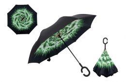 SEZONAS HITS: lietussargi ar īpaši ērtu - pretēju atvēršanas mehānismu