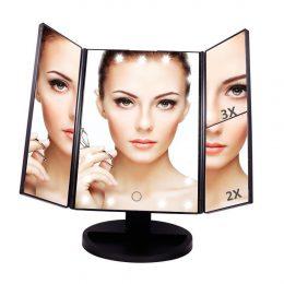 Spogulis ar LED apgaismojumu - 2x /3x palielinošs
