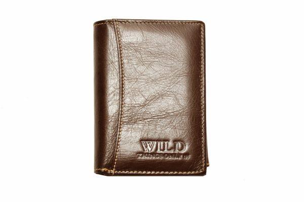 Vīriešu ādas naudas maks - WILD Q01 Coffee