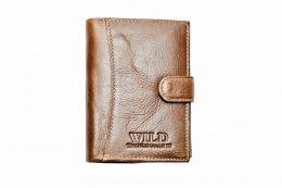 Vīriešu ādas naudas maks - WILD 3204-3 Coffee