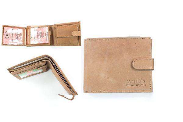 Vīriešu ādas naudas maks - WILD 3636 TAN