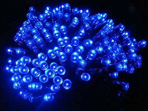 Ziemassvētku eglītes lampiņas ar 100 LED spuldzītēm zilā krāsā