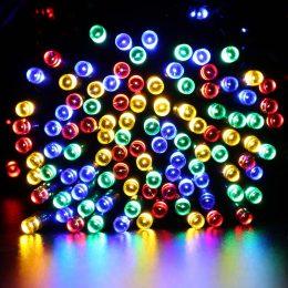 Ziemassvētku eglītes lampiņas ar 100 LED spuldzītēm dažādās krāsās