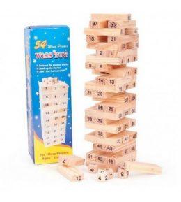 """Dabīgā koka galda spēle """"Jenga - Tornis"""""""