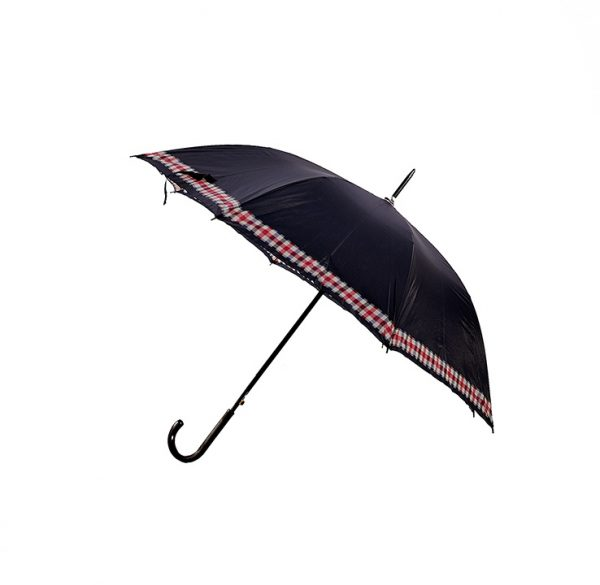 KLAISKAIS lietussargs melnā krāsā