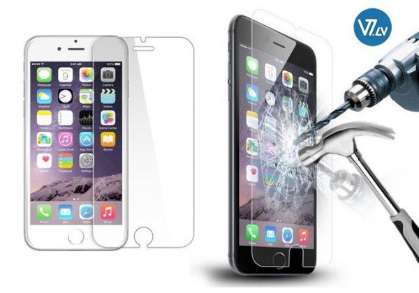 Rūdīts aizsargstikliņš 9H viedtelefonam iPhone 6 / iPhone 6s