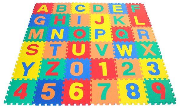 """Puzles paklājiņš """"Burti un Cipari"""" - 36 kvadrāti"""