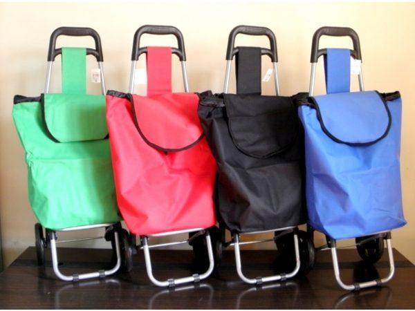 Ietilpīga iepirkumu soma uz riteņiem - M2