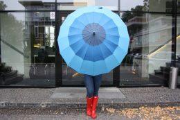RNB lielais lietussargs 3 toņos - zils