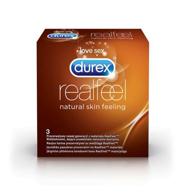 DUREX Real Feel prezervatīvi 3 gab.