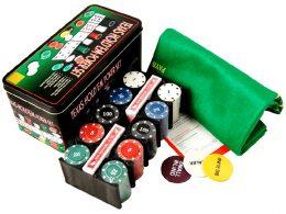 Pokera komplekts ar 200 žetoniem