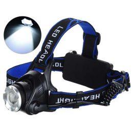 CREE Q5 LED galvas lukturis ar 3 režīmiem