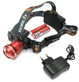 Spožs CREE T6 LED galvas lukturis ar 3 režīmiem
