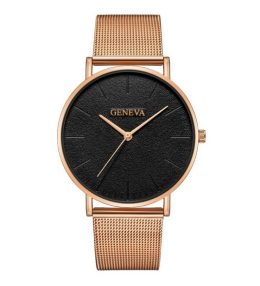 Sieviešu rokas pulkstenis - GENEVA BLACK ROSE GOLD Z676R