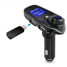 Auto 12V bezvadu USB / Bluetooth / AUX MP3 spēlētājs / FM modulators/ DUAL USB lādētājs / transmiters - CMP3P