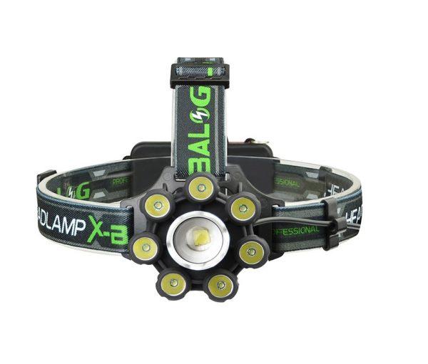 X-BALOG LED galvas lukturis ar ZOOM funkciju + BLUETOOTH / mikro SD spēlētājs / skaļrunis