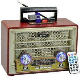 Portatīvais BLUETOOTH skaļrunis RETRO STYLE RADIO