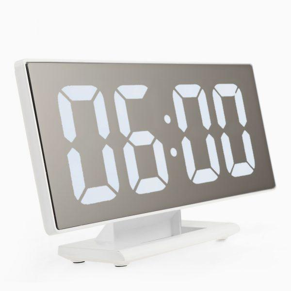 Digitālais LED galda pulkstenis ar modinātāju un termometru