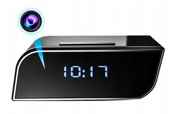 Elektronisks pulkstenis ar iebūvētu Wi-Fi spiegošanas kameru un kustību detektoru