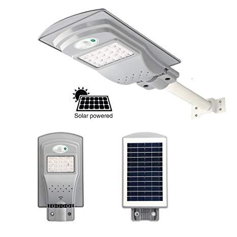 LED solārais laternas apgaismojuma panelis - 20W - AR TĀLVADĪBAS PULTI + kustības sensors