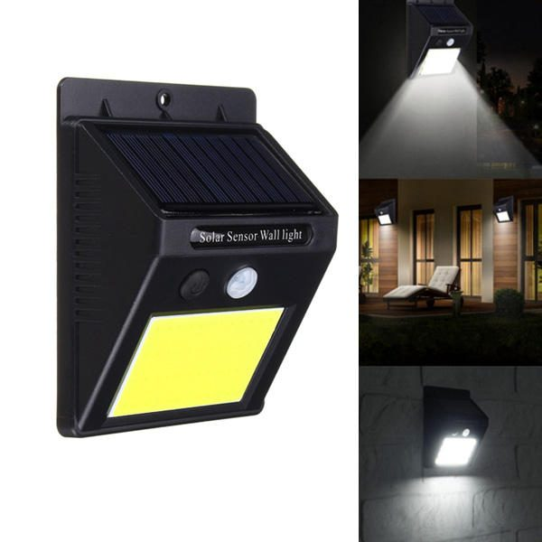 LED solārais sienas apgaismojums - kustības un nakts sensors