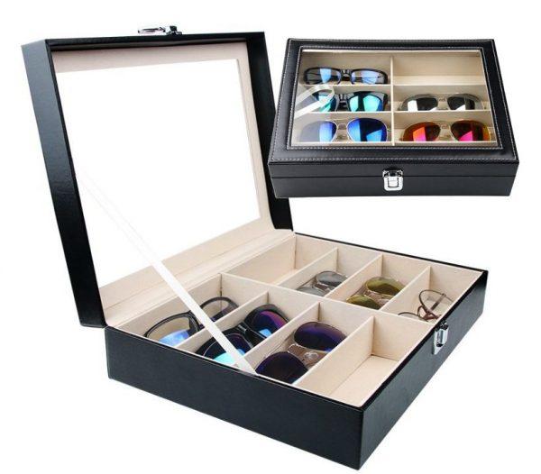 Briļļu kaste - ēŗtai, drošai un elegantai saulesbriļļu uzglabāšanai