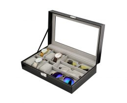 Rokaspulksteņu un briļļu kaste - ēŗtai, drošai un elegantai uzglabāšanai PD94