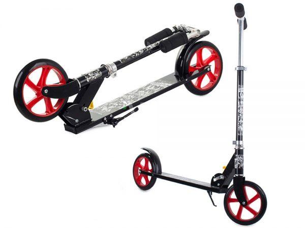Pusaudžu / pieaugušo skrejritenis Scooter Black līdz 100 KG