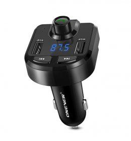 Auto 12V bezvadu USB / Bluetooth / AUX MP3 spēlētājs / FM modulators/ DUAL USB lādētājs / transmiters - BT36