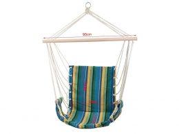 Brazīlijas tipa šūpuļtīkls / šūpuļkrēsls zilos toņos