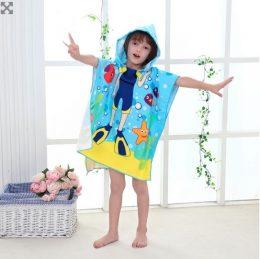 Pludmales dvielis- apmetnis ar kapuci bērniem