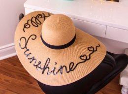 Sieviešu platmale - salmu cepure pludmalei