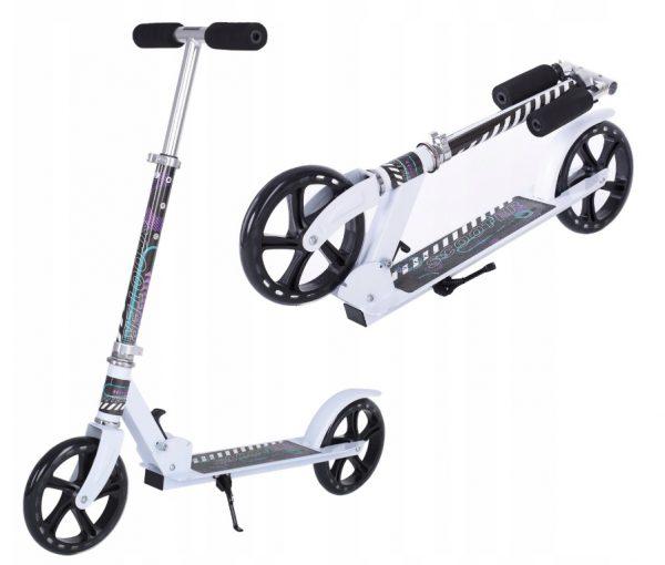 Alumīnija skrejritenis Scooter White līdz 100 KG ( 20 cm riteņu diametrs )