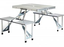 Saliekams tūrisma galds ar 4 sēdvietām