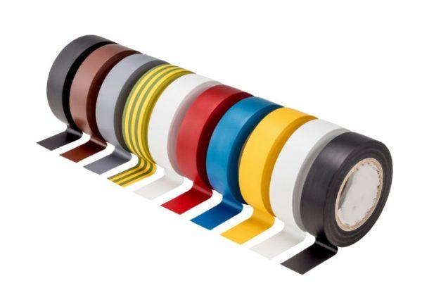 PVC elektro izolācijas lentu komplekts, 10 dažādas krāsas, 15mm x 10m