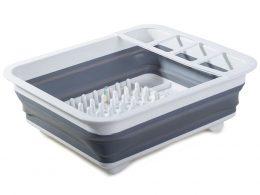 Saliekams silikona trauku žāvētājs virtuvē