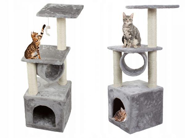 Kaķu mājiņa - tornis ar 4 stāviem ( 92 cm )