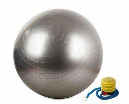 Vingrošanas bumba sudraba 65 cm komplektā ar pumpi